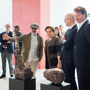 Guided tour through the exhibition at the embassy of Mexico with Gustavo Aceves, I.E. Patricia Espinosa Cantellano, Moritz van Dülmen, Kristian Jarmuschek ©Jarmuschek+Partner